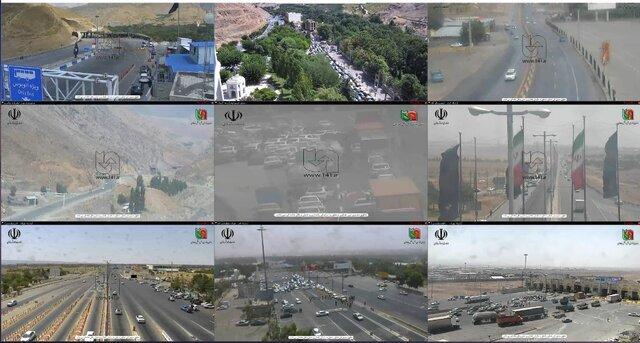 ترافیک سنگین به دلیل هجوم مردم به جادهها!