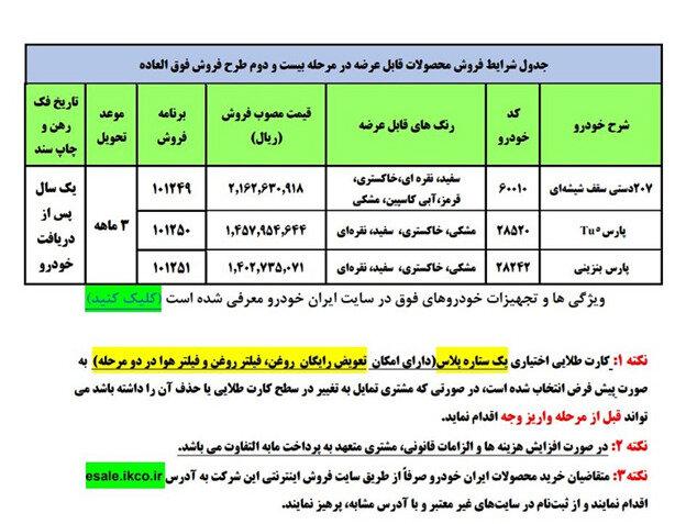 فروش فوق العاده سه محصول ایران خودرو  آغاز شد+ جزییات