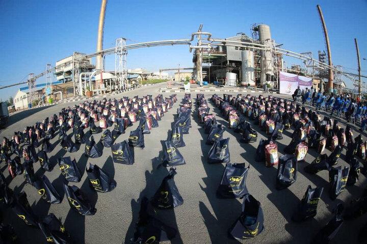 ایرانول ۳۰۰ بسته کمک های مومنانه اهدا کرد